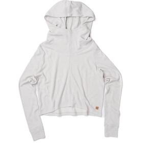 tentree Juneau LS Hooded Women Hi Rise Grey
